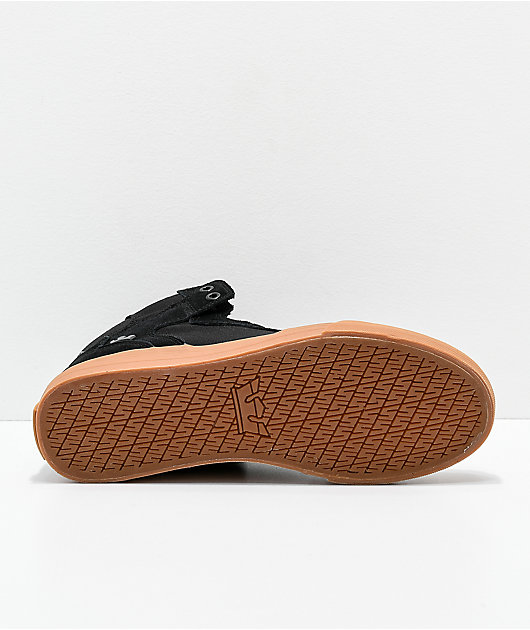 Supra Vaider Black, Gum, Suede & Canvas Skate Shoes