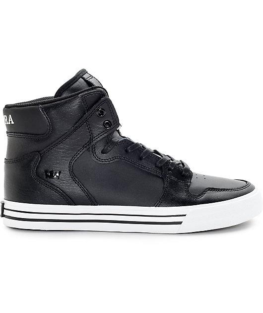 Supra Vaider Classic Black Leather