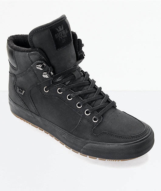 Supra Vaider Cold Weather Black & Gum Boots