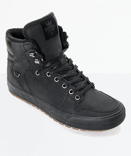 Supra Vaider Cold Weather botas en negro y goma