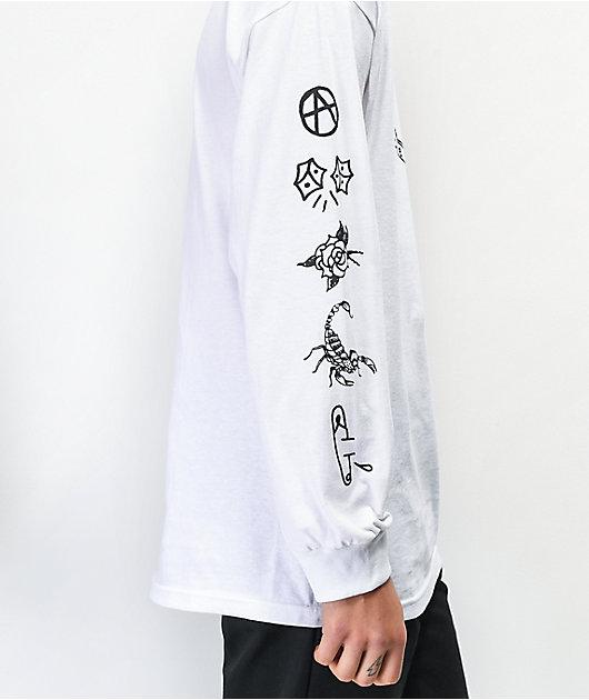 Swallows & Daggers x Ross Hell Rose White Long Sleeve T-Shirt
