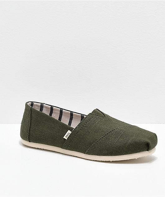 TOMS Alpargata Olive Shoes | Zumiez