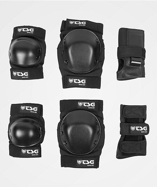 TSG Basic Adult Black Pad Set
