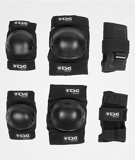 TSG Basic Junior Black Pad Set