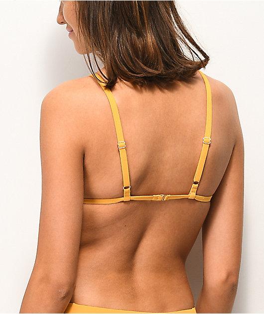 Tavik Jett Sunflower Triangle Bikini Top