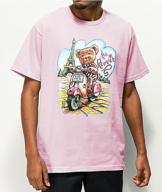 Teddy Fresh Au Revoir Light Pink T-Shirt