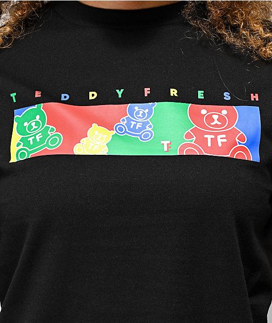 Teddy Fresh Color Bar camiseta negra