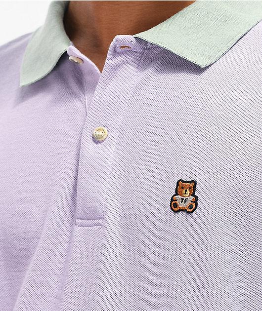 Teddy Fresh Colorblock Pastel Long Sleeve Polo Shirt