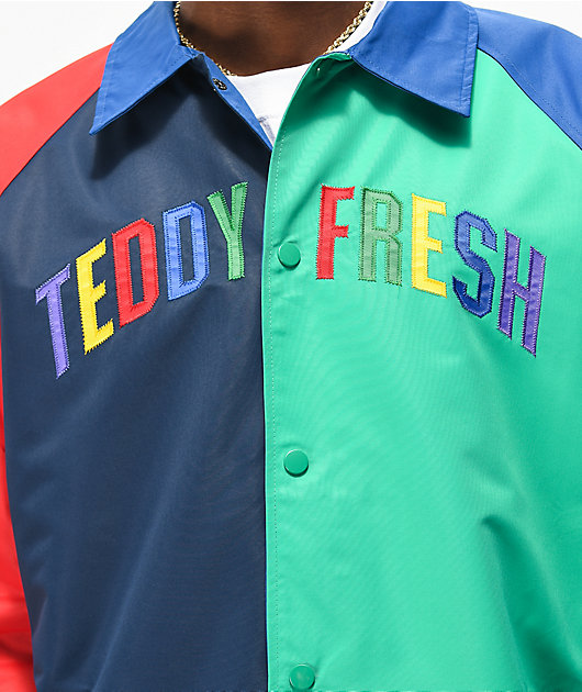 Teddy Fresh Colorblock Primary Coaches Jacket