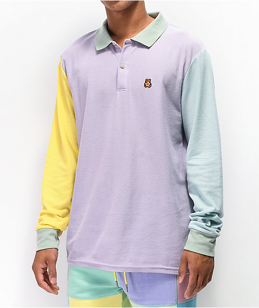 Teddy Fresh Colorblock polo de manga larga pastel