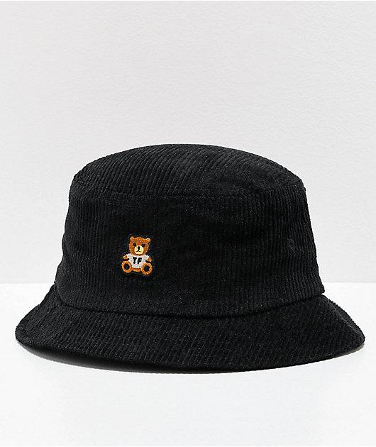 Teddy Fresh Corduroy Black Bucket Hat