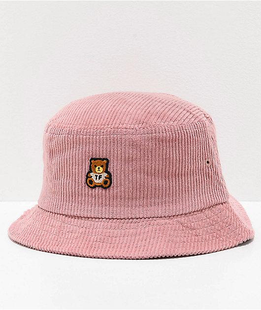 Teddy Fresh Corduroy Pink Bucket Hat