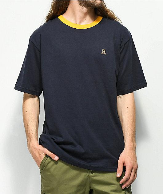 Teddy Fresh Embroidered Navy Ringer T-Shirt