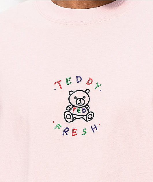 Teddy Fresh Embroidery Blush camiseta rosa