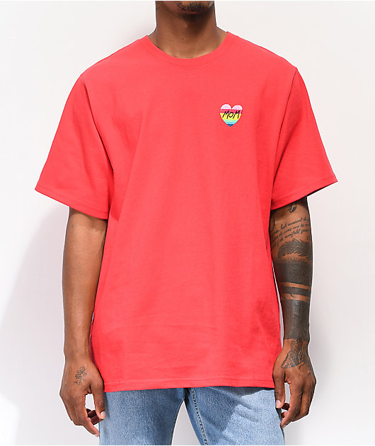 Teddy Fresh Heart Mom camiseta roja