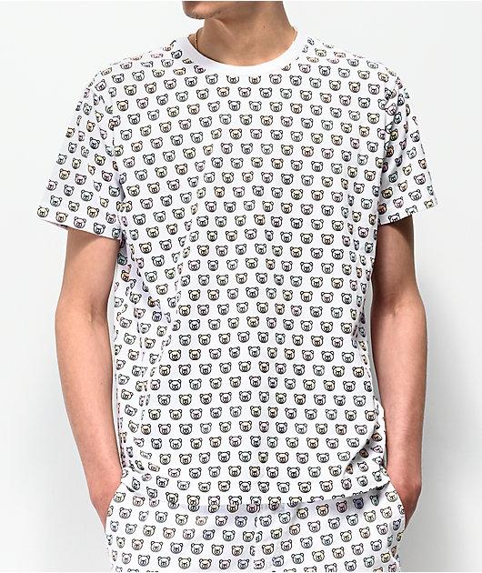 Teddy Fresh Monogram Allover White T-Shirt