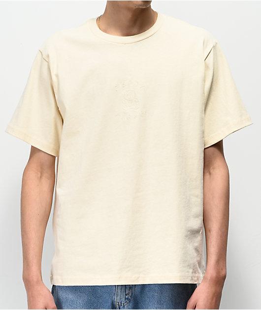 Teddy Fresh Tonal Embroidery Yellow T-Shirt
