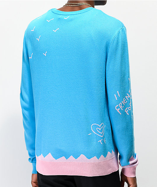 Teddy Fresh Two Teds Blue Crew Neck Sweater