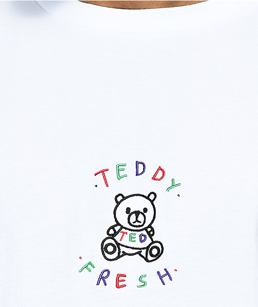 Teddy Fresh camiseta blanca bordada