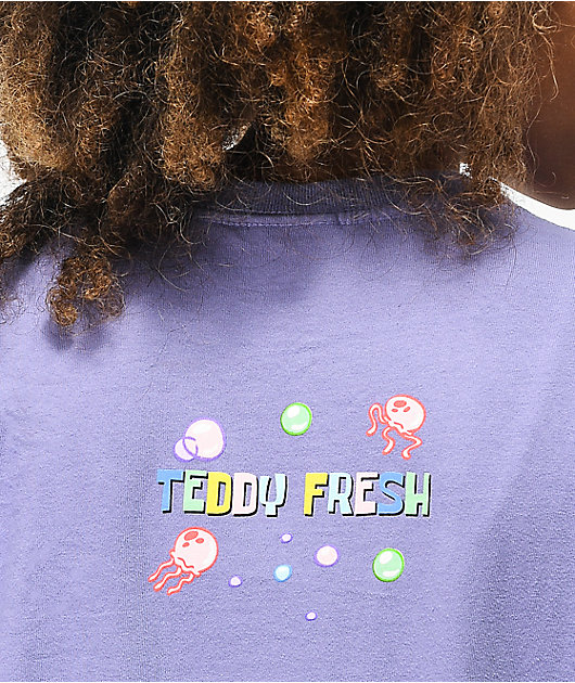 Teddy Fresh x SpongeBob SquarePants Bubbles Purple Long Sleeve T-Shirt