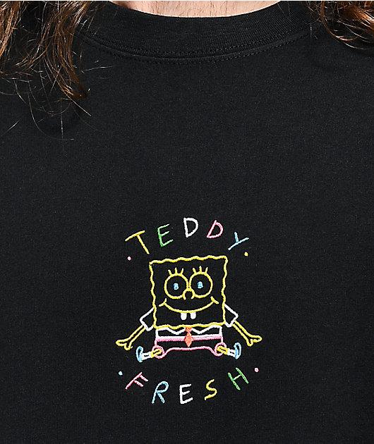 Teddy Fresh x SpongeBob SquarePants Embroidered Black T-Shirt