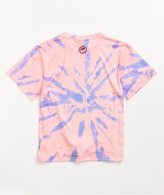 Teen Hearts Roller Girls Pink & Purple Tie Dye T-Shirt