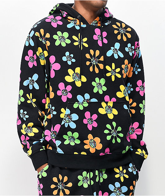 Teenage Allover Floral & Black Hoodie