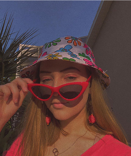 Teenage Bored Skies White Bucket Hat