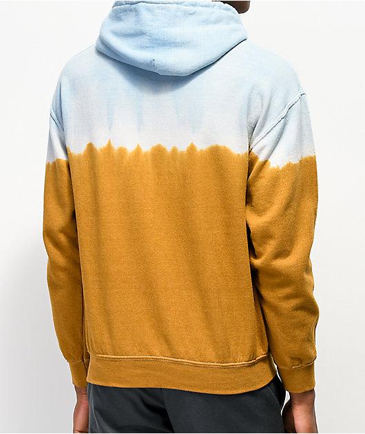 Teenage Don't Bite sudadera con capucha azul  y marrón
