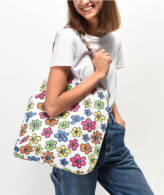 Teenage Floral Tote Bag