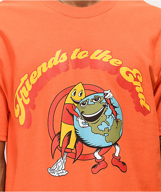 Teenage Friends To The End Orange T-Shirt