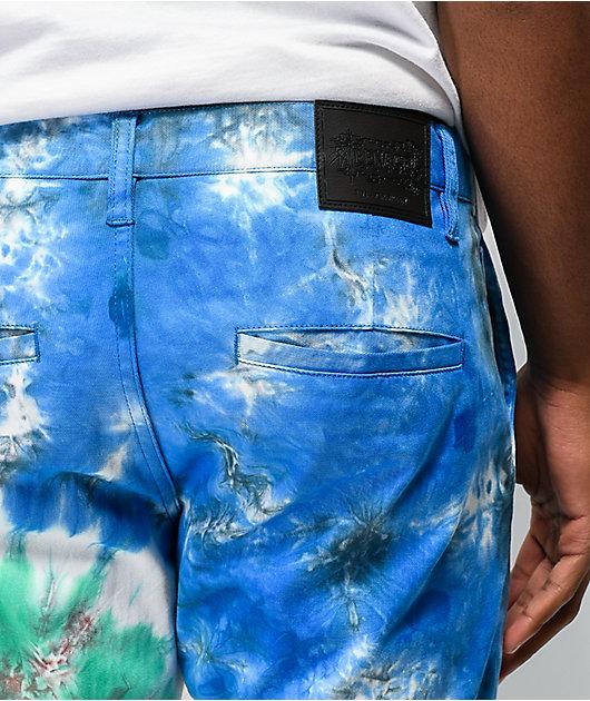 Teenage pantalones chinos de tie dye