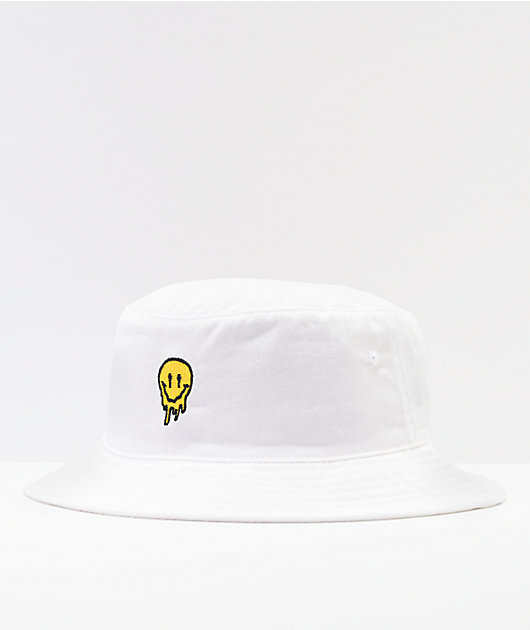The Artist Collective Drip Face White Bucket Hat