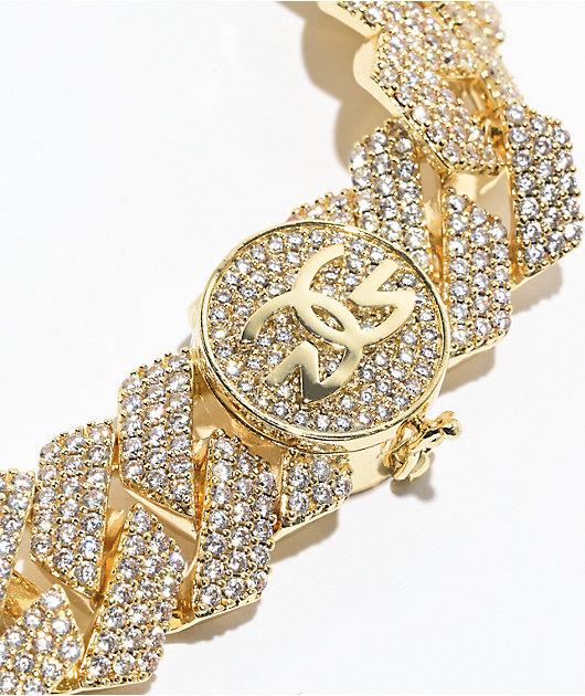 The Gold Gods 3 Row 18mm Diamond Gold Cuban Chain