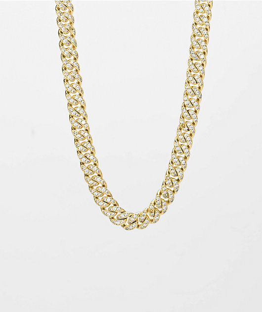 The Gold Gods Diamond Micro Cuban Necklace