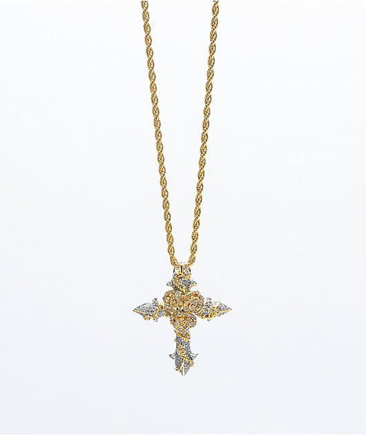 The Gold Gods Diamond Rose Cross Gold 22