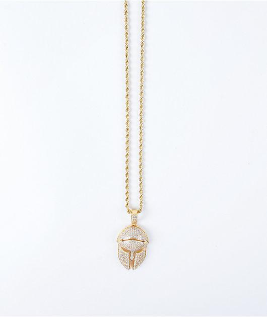 The Gold Gods Diamond Trojan Pendant 22