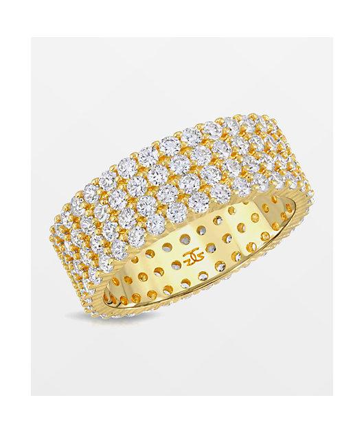 The Gold Gods Eternity anillo de diamantes