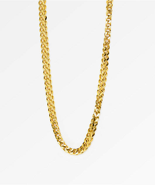 """The Gold Gods Franco Box Chain 28""""  Necklace"""