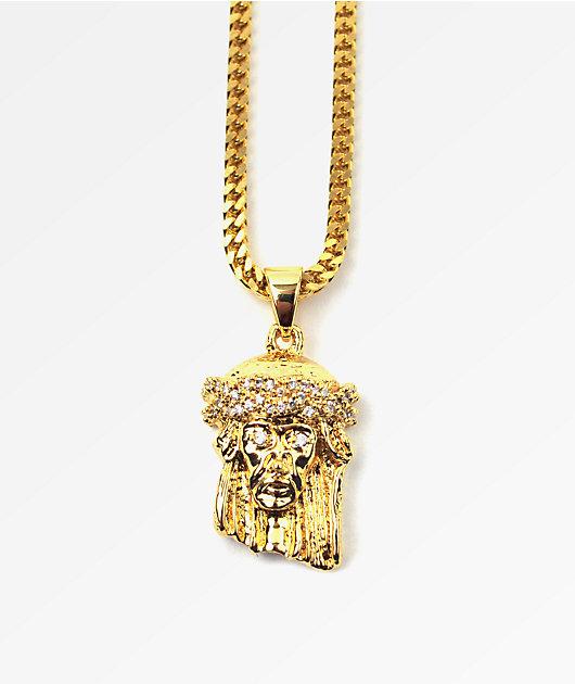 The Gold Gods Gold Jesus Piece