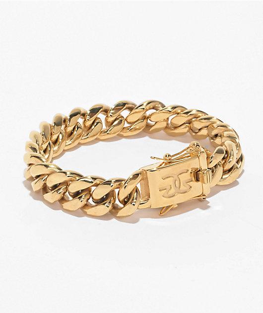 The Gold Gods Miami Cuban Link 12mm Yellow Gold Bracelet