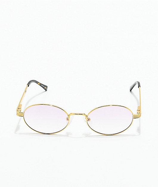 The Gold Gods The Ares gafas de sol en rosa degradada y oro