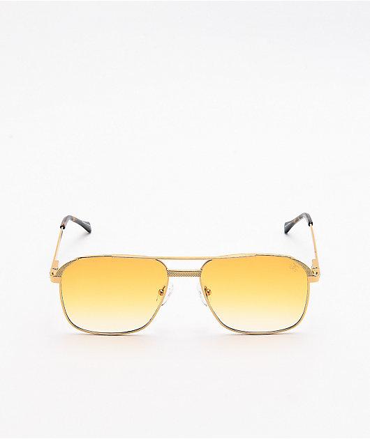 The Gold Gods The Hades Orange & Gold Sunglasses