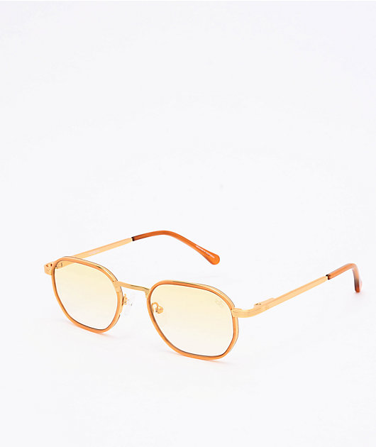 The Gold Gods The Hermes gafas de sol de gradiente amarillo