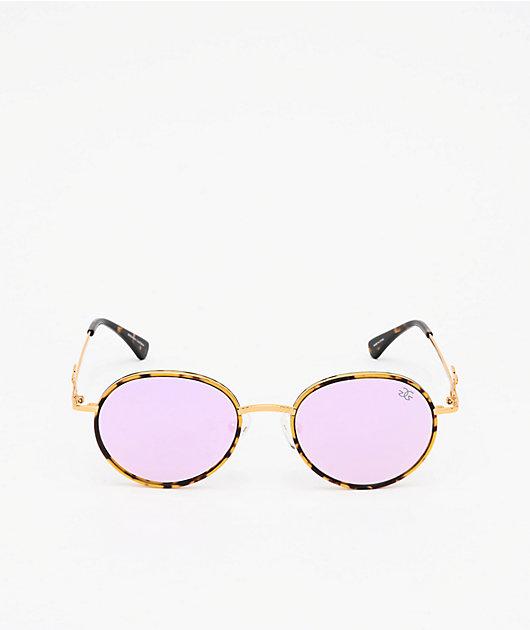 The Gold Gods The Iris Dark Tort & Lavender Sunglasses