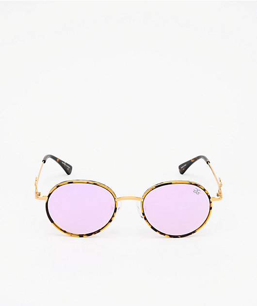 The Gold Gods The Iris gafas de sol en lavanda y de carey