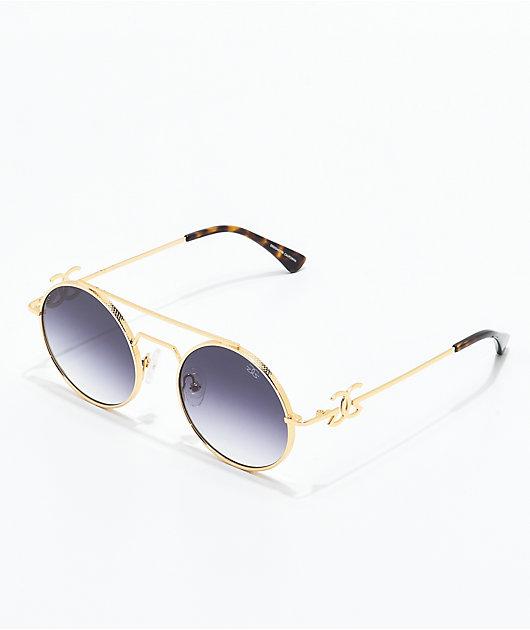 The Gold Gods The Visionaries Black Gradient Sunglasses