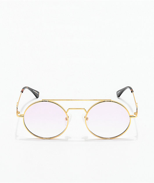 The Gold Gods Visionaries Gold & Pink Gradient Glasses