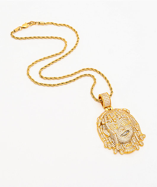 The Gold Gods x Lil Pump Full Iced Face 22