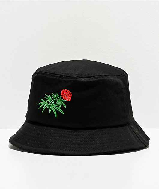 The High & Mighty Flowers Black Bucket Hat